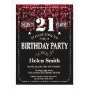 red glitter 21st birthday invitation