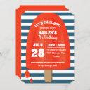 red popsicle birthday party invitation
