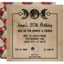 red roses new age cool gothic birthday invites