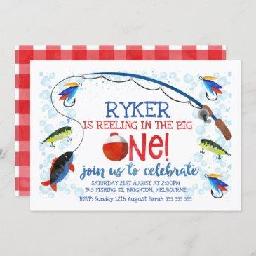 reeling in the big one birthday invitatation invitation