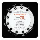retro 75th birthday party invitations rotary dial