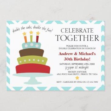 retro celebrate together birthday cake | birthday invitation