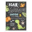 roar dinosaur birthday invitations dino party boy
