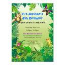 rockin' rainforest birthday invitations