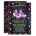 roller skate birthday invitation