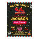 roller skating chalkboard confetti birthday party invitation