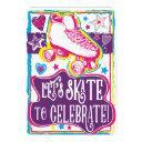 roller skating girls birthday skate rink invites