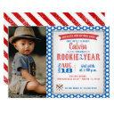 rookie of the year first birthday invitation