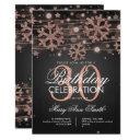 rose gold 30th birthday winter glitter glam invitation