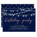 rose gold & navy | adult women's 40 birthday party invitations