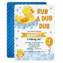 rub a dub dub rubber duck birthday party invitation