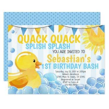 rubber duck birthday party invitation invite