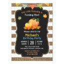 rustic burlap pumpkin fall kid's birthday party invitations