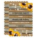 rustic country surprise birthday party invitations