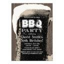 rustic giant beer & bbq 50th birthday party invitation
