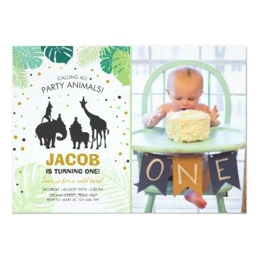 safari birthday invitations zoo wild jungle animals