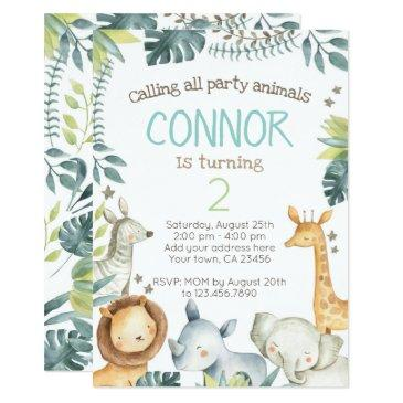 safari jungle birthday invitations