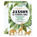 safari jungle birthday invitations for boy wild one