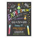 science experiment birthday invitations boy