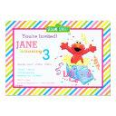 sesame street | elmo girl's birthday invitations