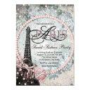shabby chic paris sweet 16 party invitation