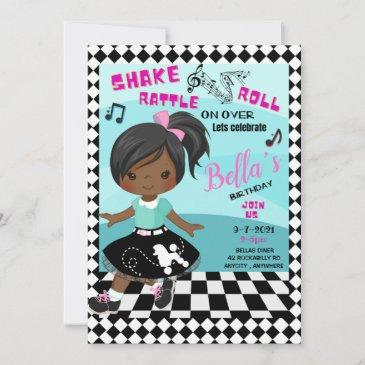 shake, rattle, roll birthday invitation