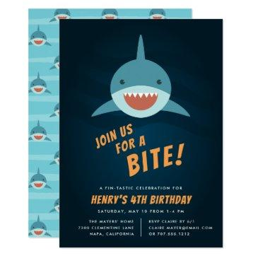 shark bait birthday party invitations