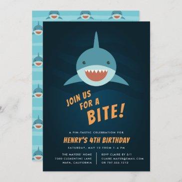 shark bait birthday party invitation