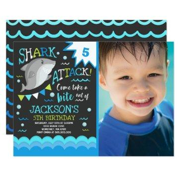 shark birthday invitation shark pool party