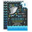 shark birthday invitations shark pool party