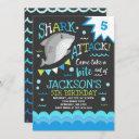 shark birthday invitation shark pool party