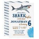 shark-tastic birthday party shark bash invitation