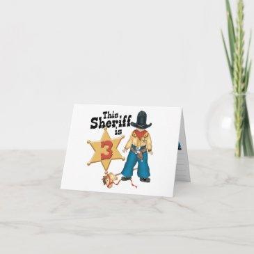 sheriff 3rd birthday invitations invitations