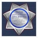 sheriff badge birthday party invitations