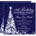 silver navy christmas surprise 18th birthday invitations