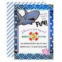 sink your teeth shark birthday party invitations