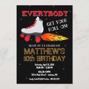 skating party invitation, roller skate invitation