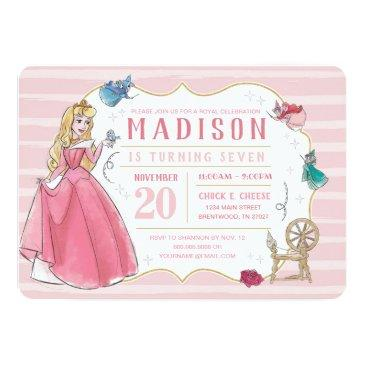 sleeping beauty | watercolor birthday invitation