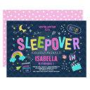 sleepover party invitation slumber pajama party