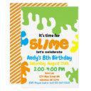 slime birthday party invitation; slime lab; boys invitation