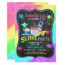 slime time pastel birthday party invitation