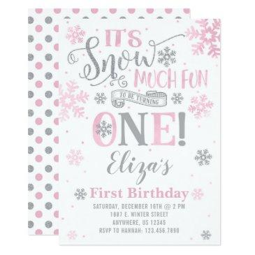 snow much fun birthday invitation
