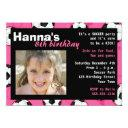 soccer birthday party invitations pink