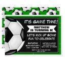 soccer birthday party invitation soccer fans