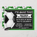 soccer birthday party invitation soccer fans