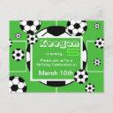 soccer birthday postinvitations