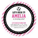 soccer girl birthday invitation