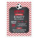 soccer invite party birthday sport red football
