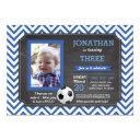 soccer party foot ball footy birthday photo invite