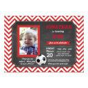 soccer party foot ball footy birthday photo invite